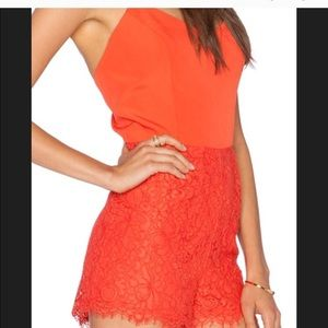 Heartloom lace short romper NWT